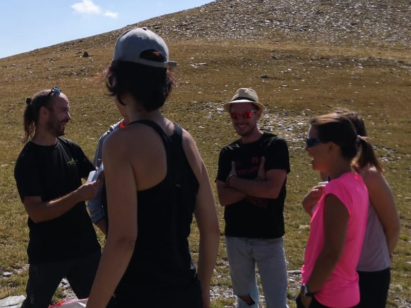 grup de trekking al coll de fontnegre